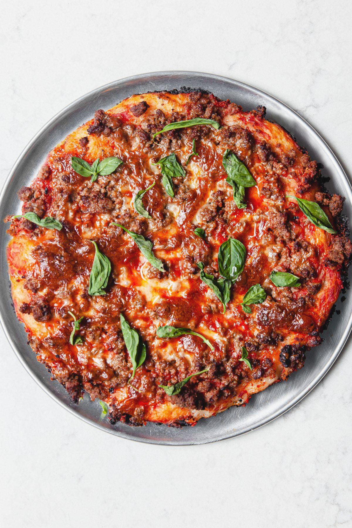 sausage skillet pizza