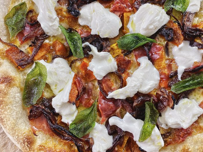 honeynut burrata pizza