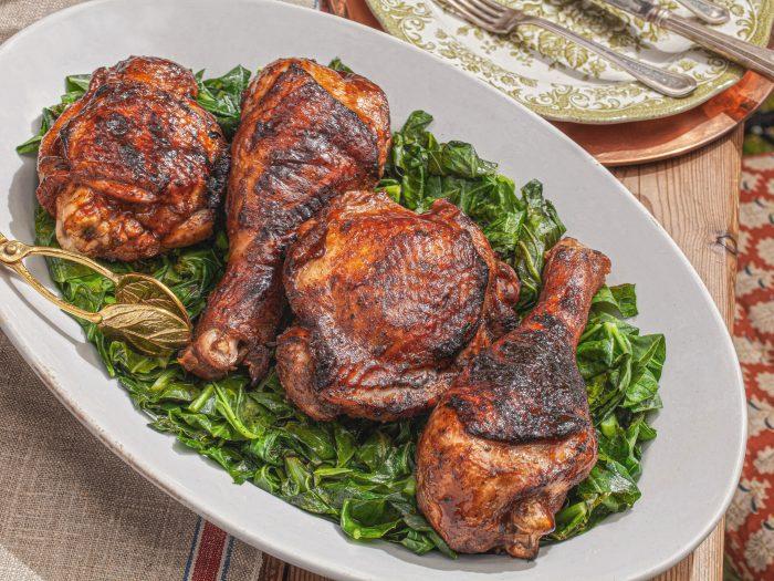 turkey with greens