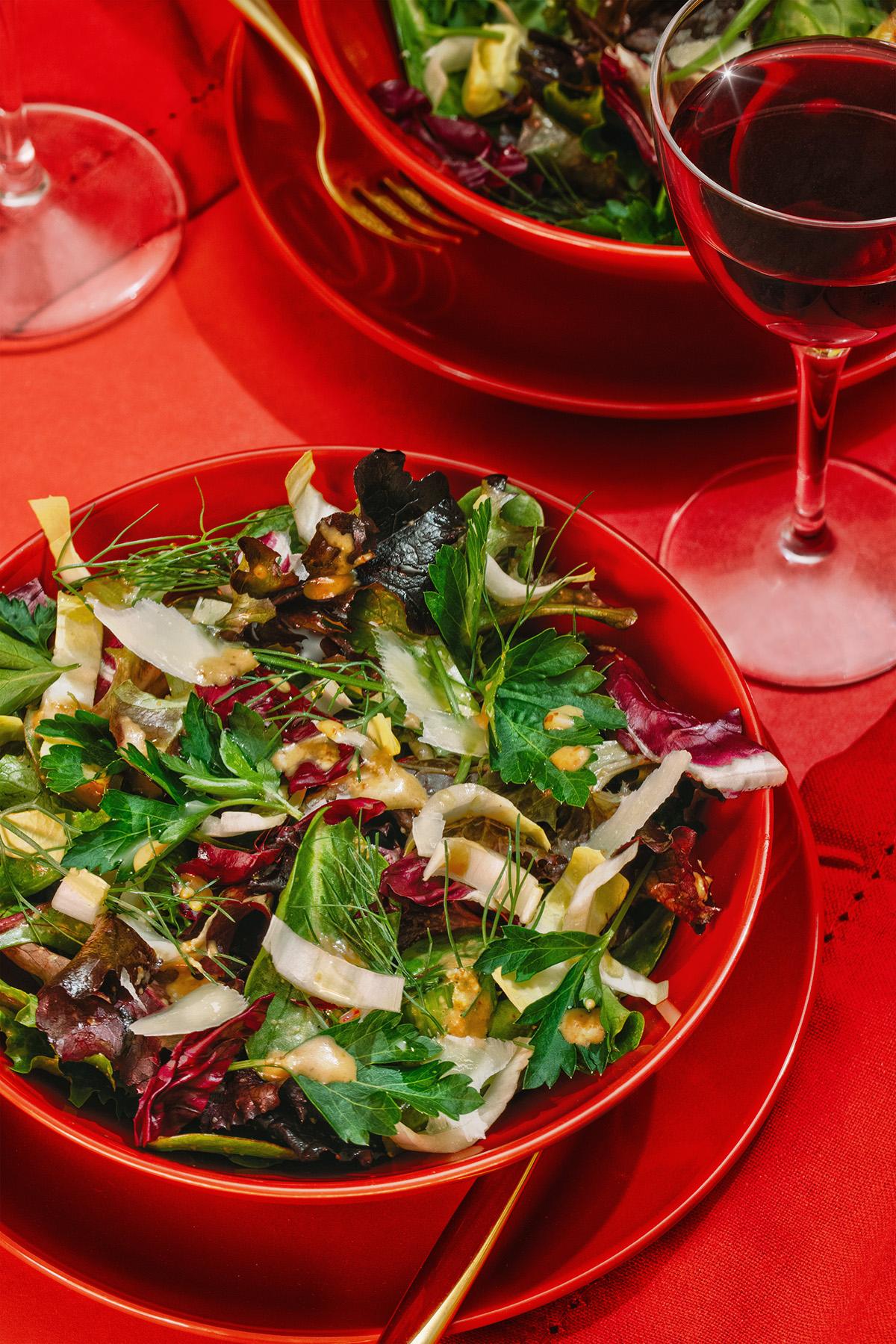 spicy vinaigrette salad