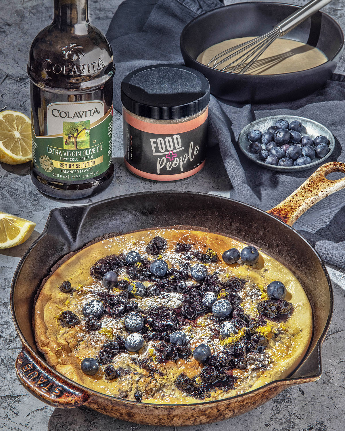 Blueberry Balsamic Dutch Baby