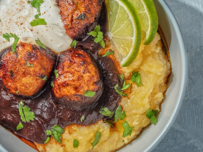 Chicken Mole Meatballs