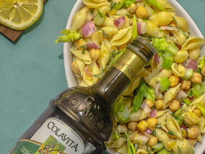 Lemony Chickpea Pasta Salad
