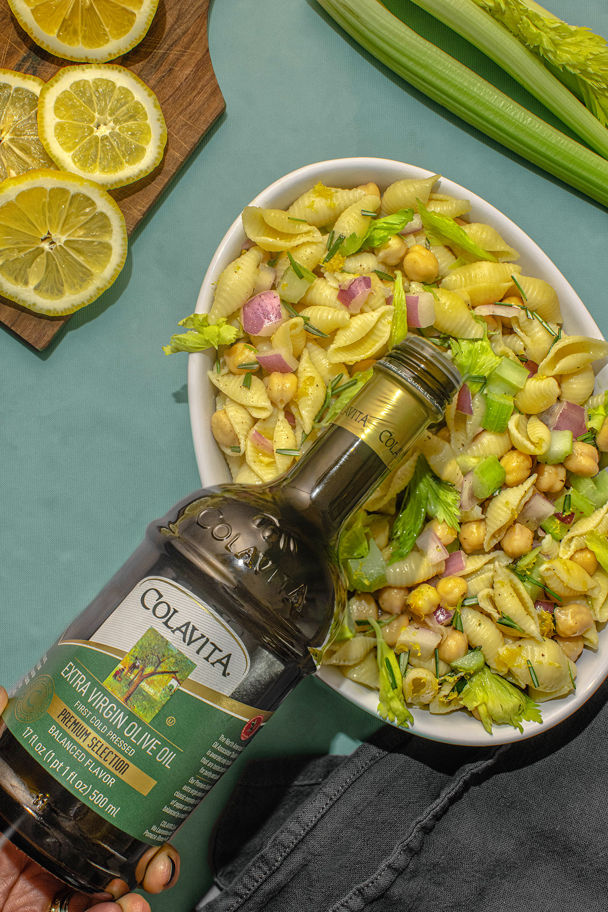 Lemony Chickpea Pasta Salad